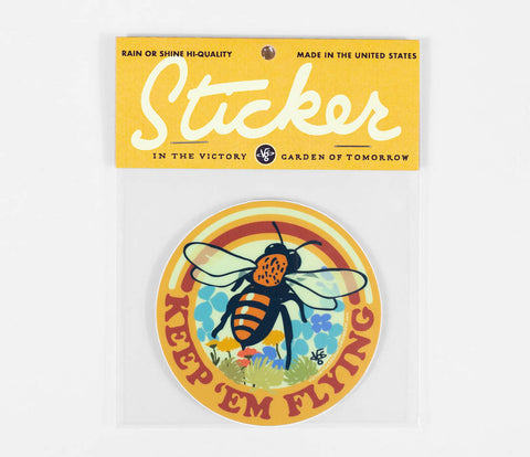 Sticker - Keep 'Em Flying Bee