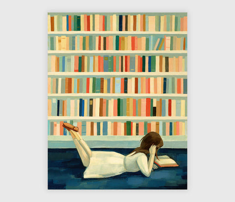 ART PRINT: I Saw Her In The Library - Emily Winfield Martin