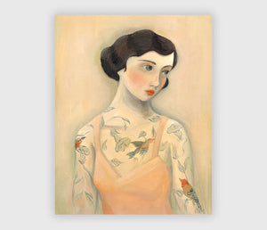 ART PRINT: Tattooed Lady, Rara Avis - Emily Winfield Martin