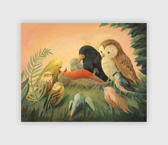 ART PRINT: The Death of Cock Robin - Emily Winfield Martin