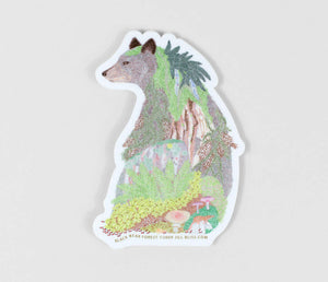 Sticker - Black Bear Forest