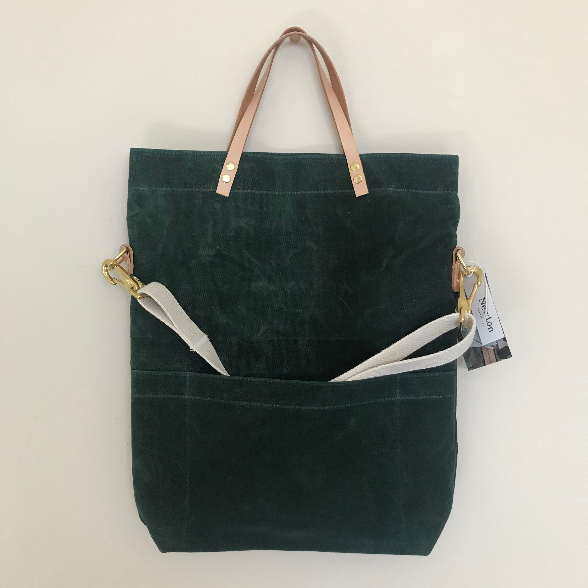 Waxed Canvas Field Bag - Evergreen