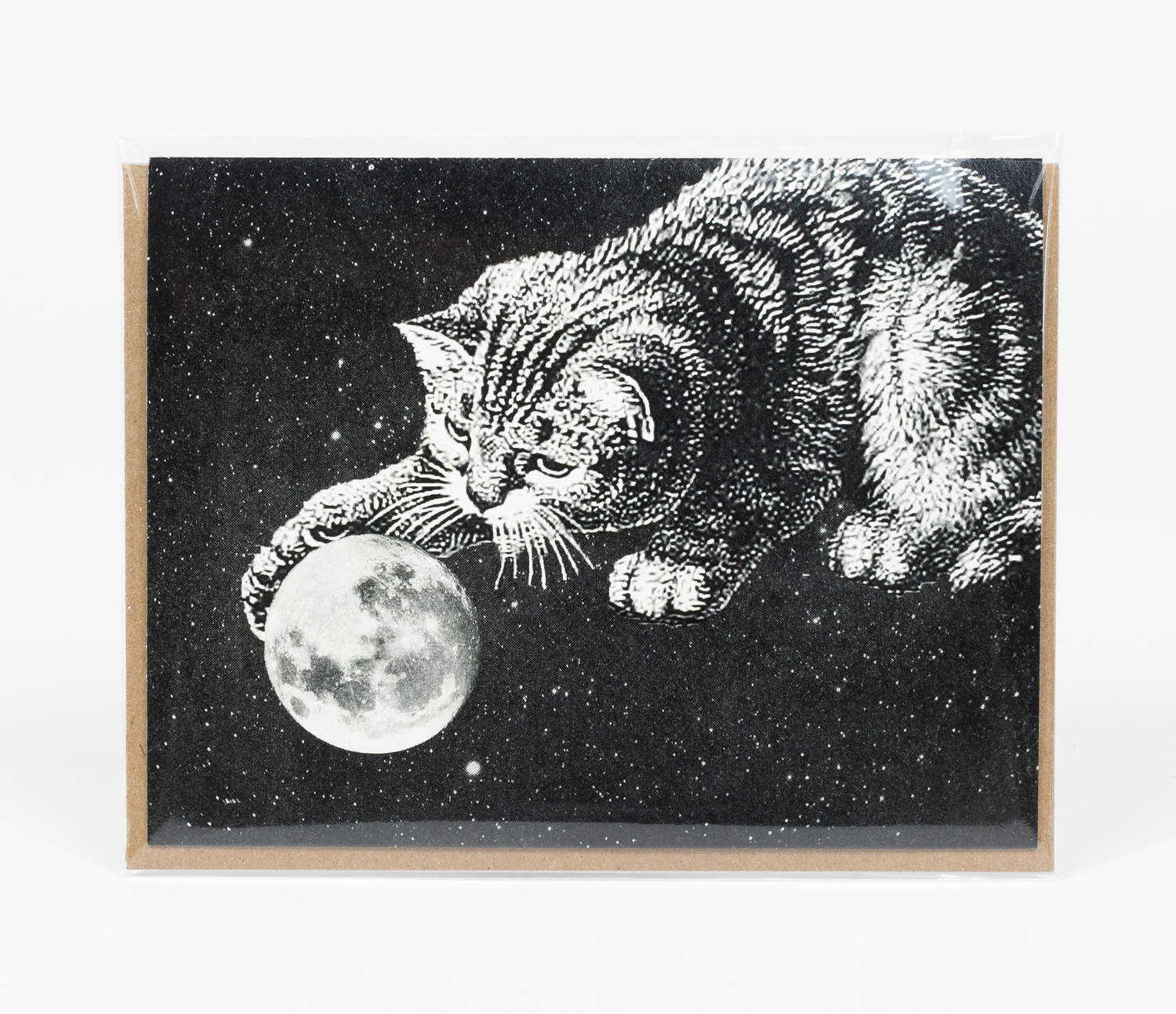 Greeting Card: Moon Cat