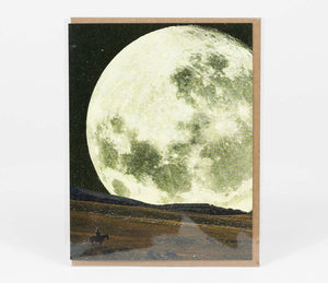 Greeting Card: Cowboy Moon