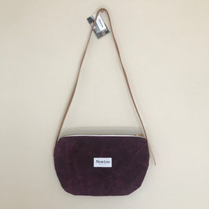 Waxed Canvas Crossbody Bag - Mulberry