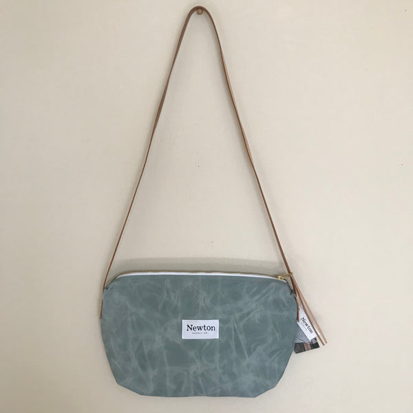 Waxed Canvas Crossbody Bag - Sage