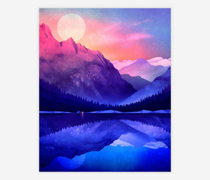 ART PRINT: Camping By The Lake - Durido
