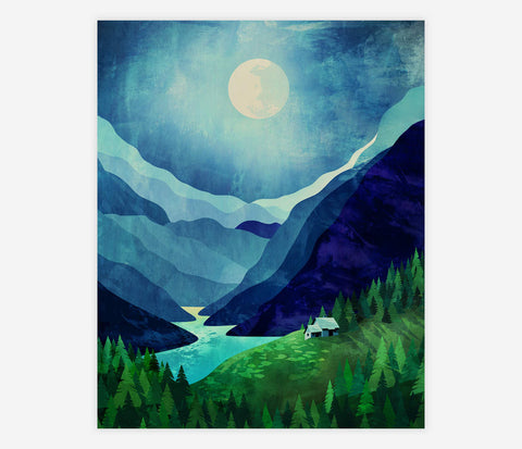 ART PRINT: Moonlight Shadow - Durido