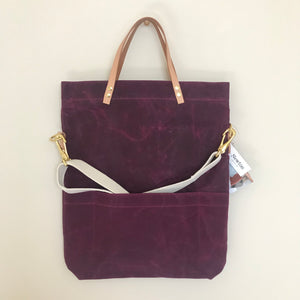 Waxed Canvas Field Bag - Mulberry