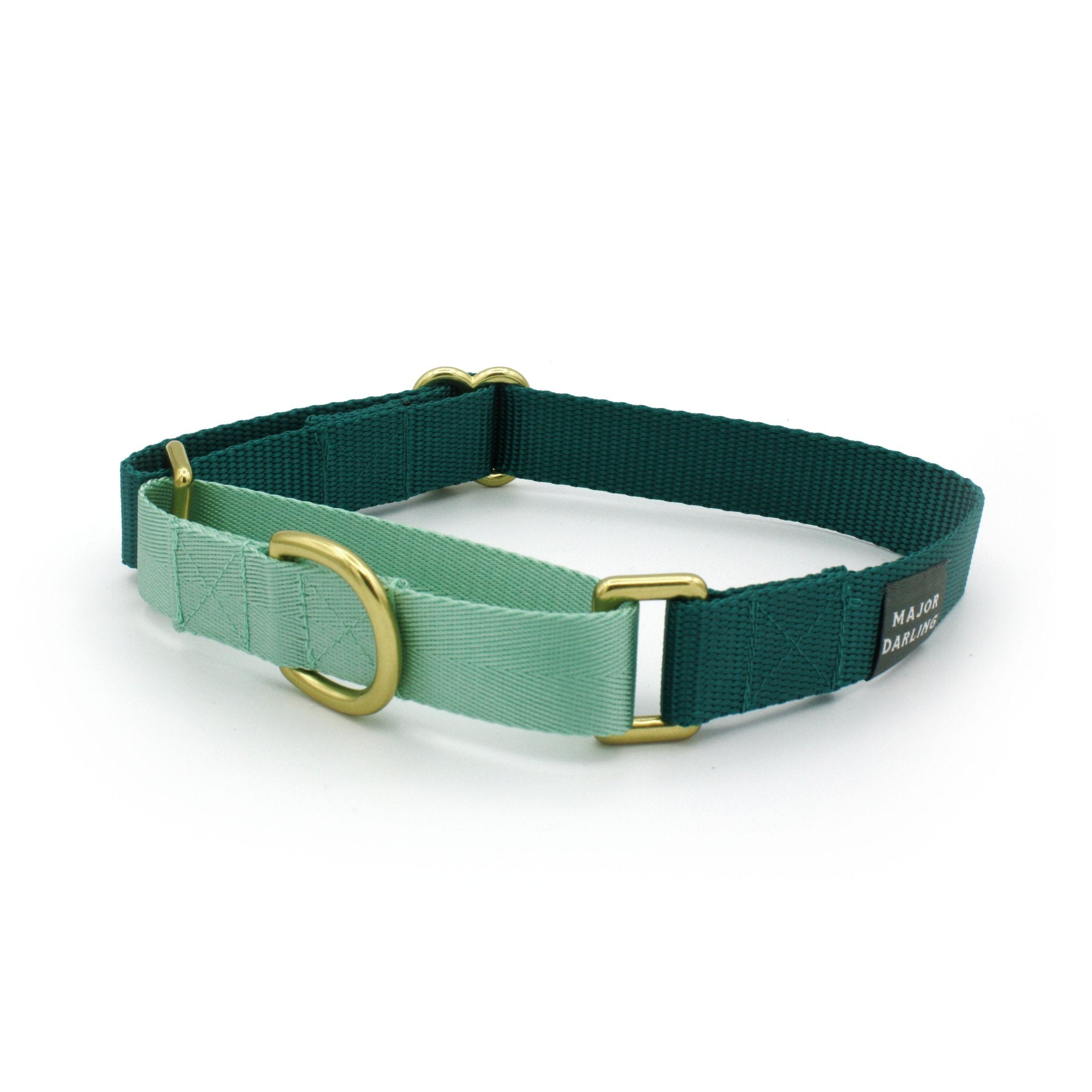 Martingale Collar - Teal + Mint (MED)