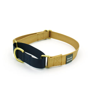 Martingale Collar - Gold + Navy (MED)
