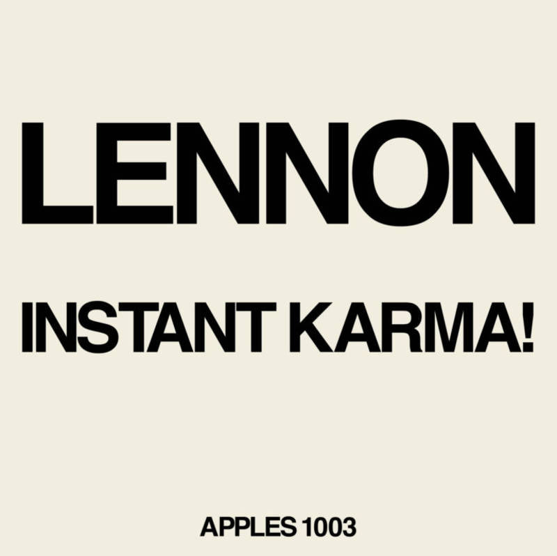 RSD2020 - Lennon/Ono with the Plastic Ono Band - Instant Karma! 7""