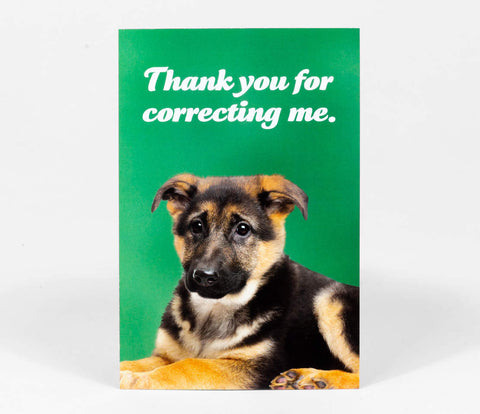 Postcard: Thank You For Correcting Me