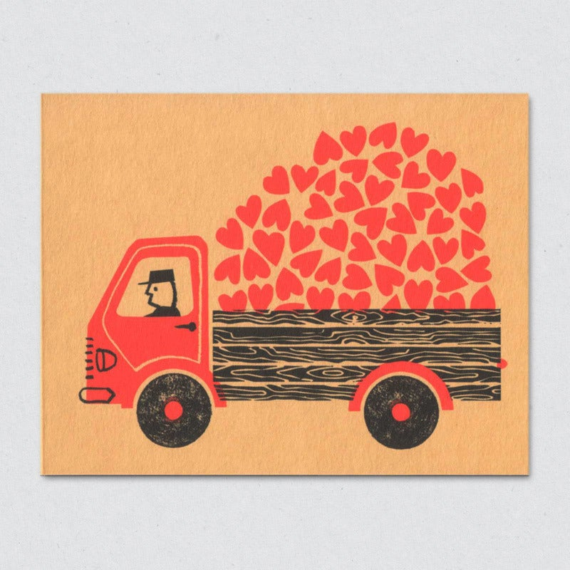 Greeting Card: Love Truck