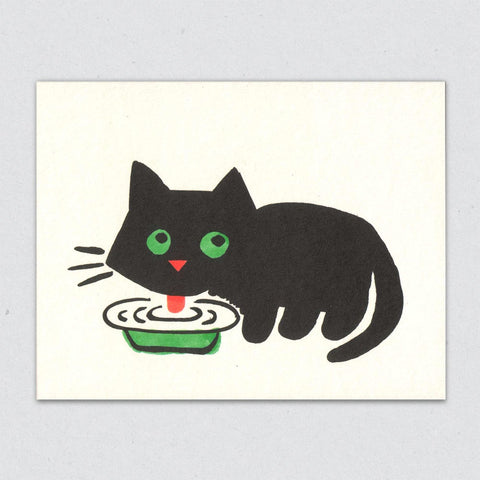 Greeting Card: Black Cat