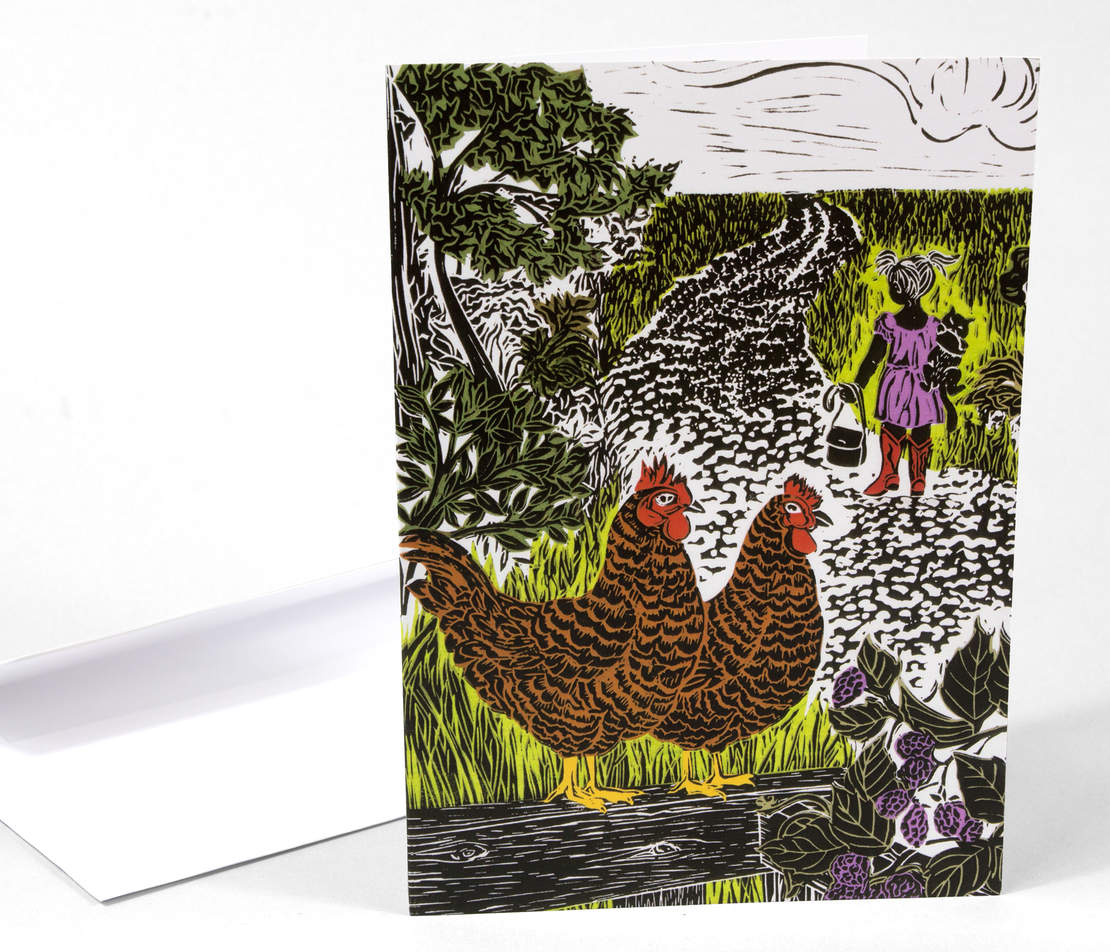 Greeting Card: Chickens