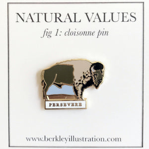 Enamel Pin: Bison