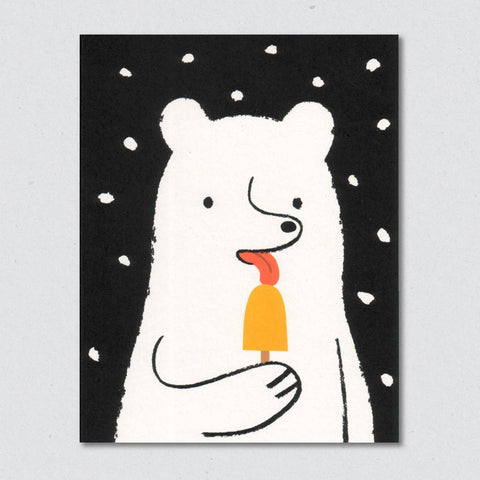 Greeting Card: Popsicle Bear