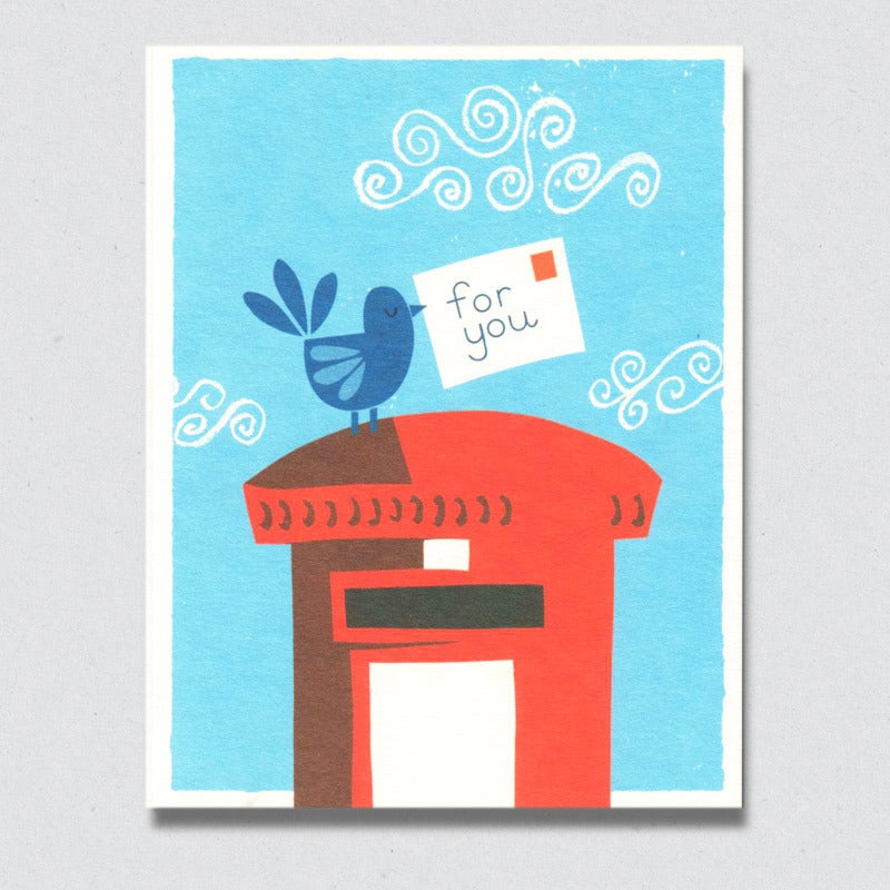 Greeting Card: Bird Mail