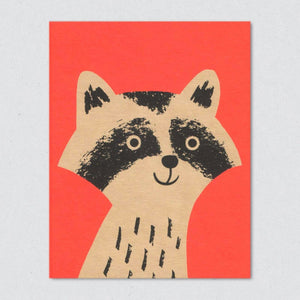 Greeting Card: Raccoon