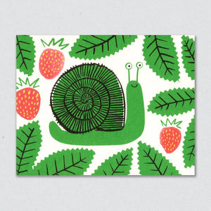 Greeting Card: Snail