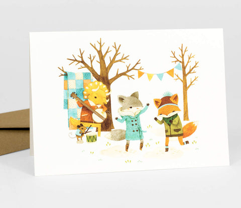 Greeting Card: Dancing Critters