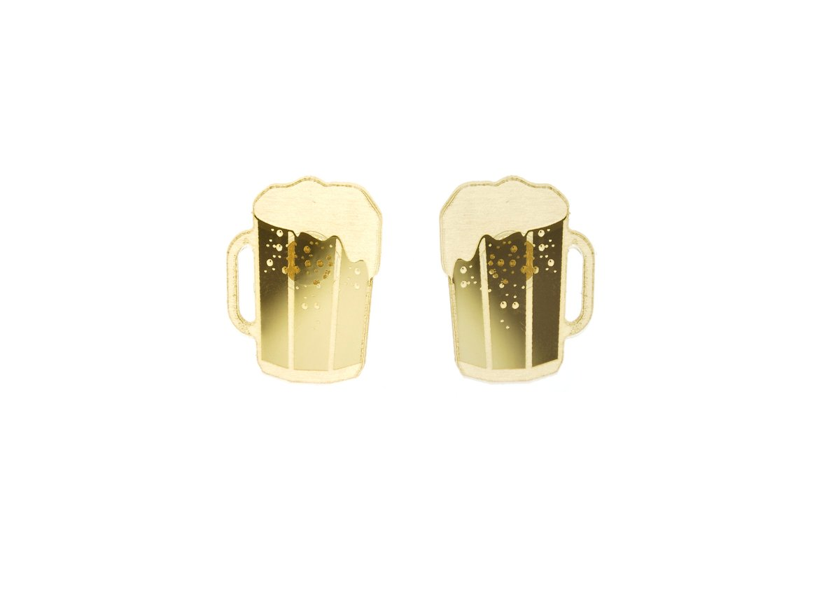 Earrings - Beer Mugs