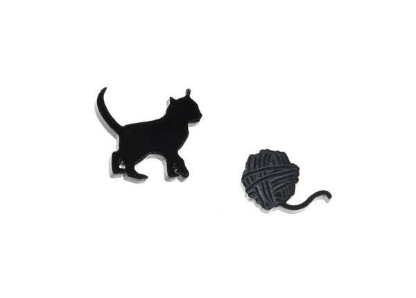 Earrings - Kitten & Yarn