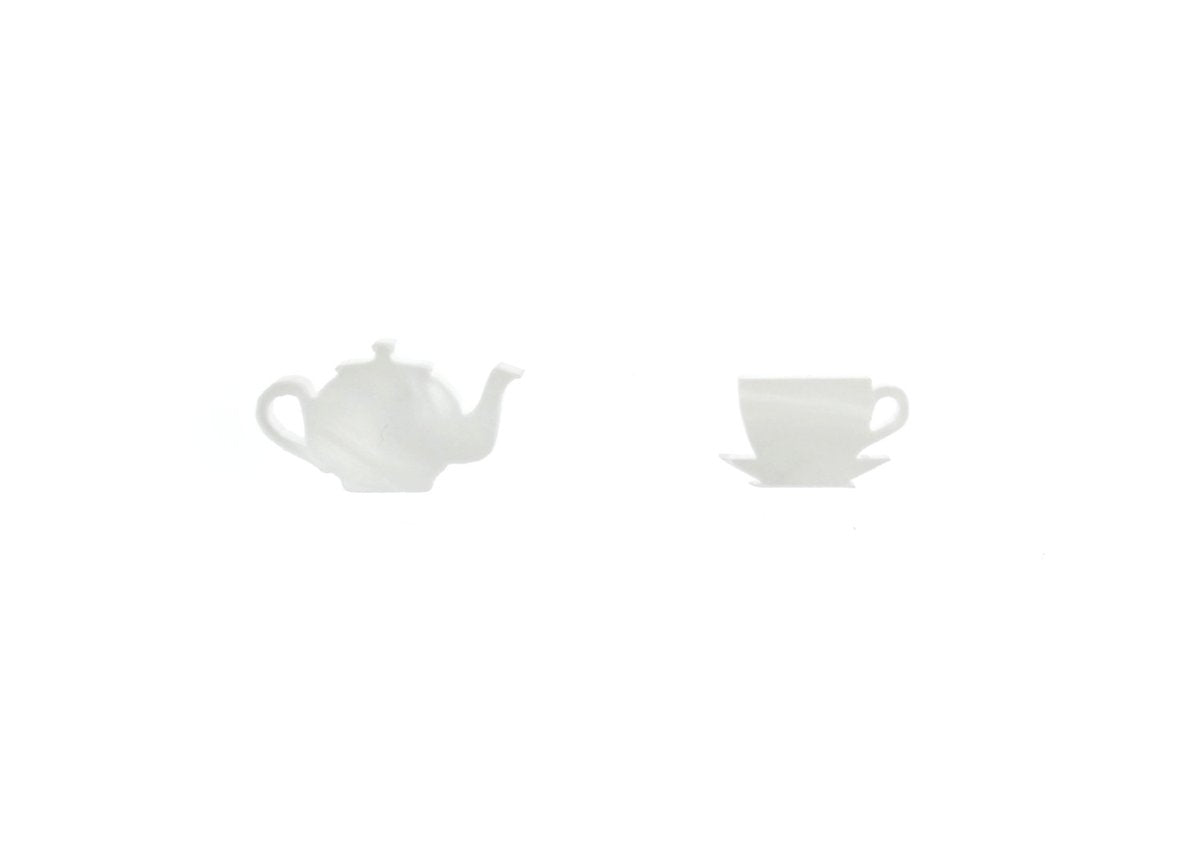 Earrings - Teapot & Cup