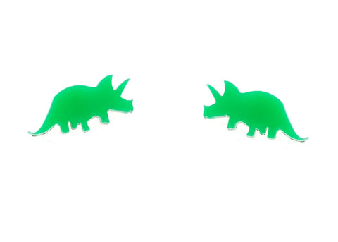 Earrings - Triceratops