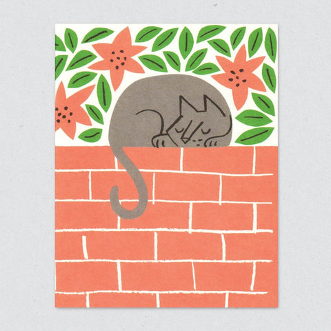 Greeting Card: Sleeping Cat