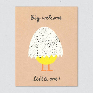 Greeting Card: Big Welcome Little One