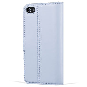 Sky Blue Pastel Leather Case - Apple iPhone 5/5S/SE - Snakehive