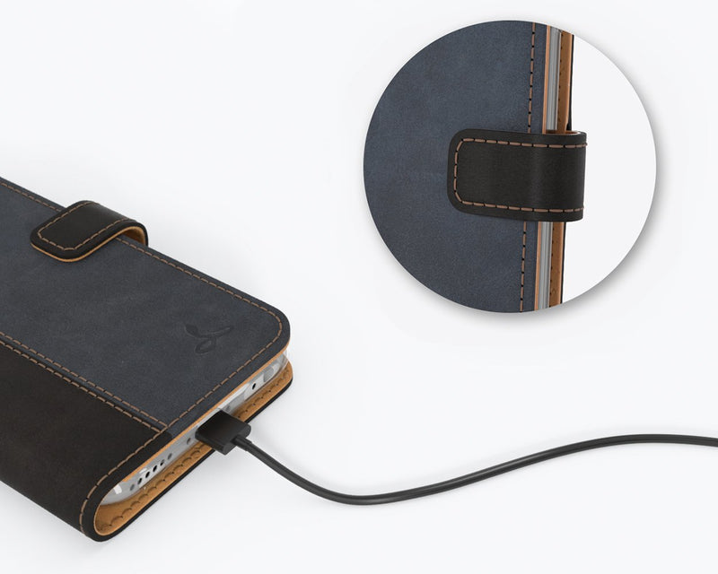 Vintage Two Tone Leather Wallet - Apple iPhone 6/6S