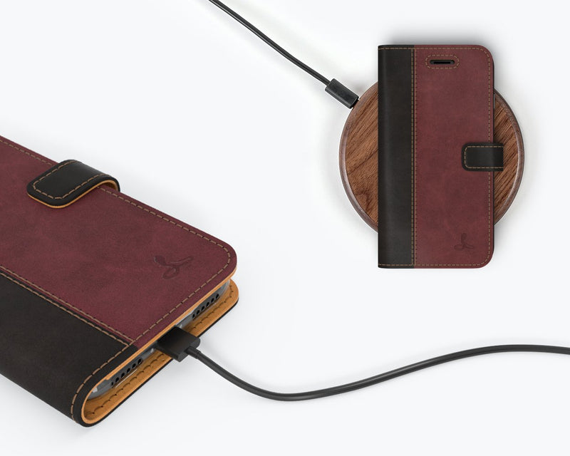 Vintage Two Tone Leather Wallet - Apple iPhone 8