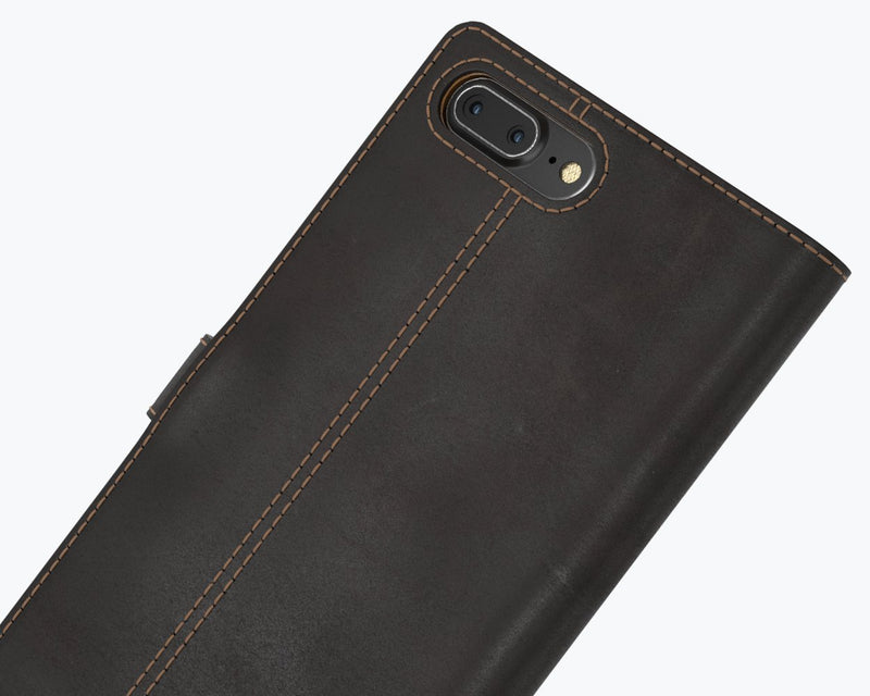 Vintage Two Tone Leather Wallet - Apple iPhone 8 Plus