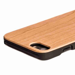 Cherrywood Wood Back Case - Apple iPhone 8 - Snakehive