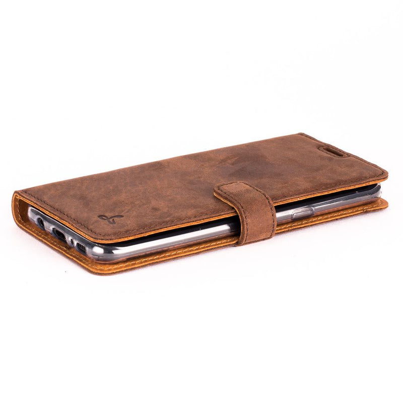 Vintage Leather Wallet - Samsung Galaxy S8 Plus