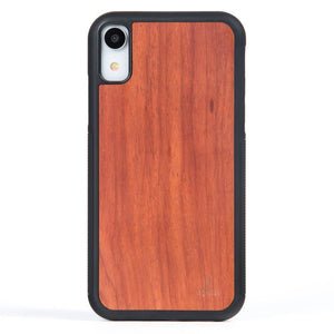 Rosewood Wood Back Case - Apple iPhone XR