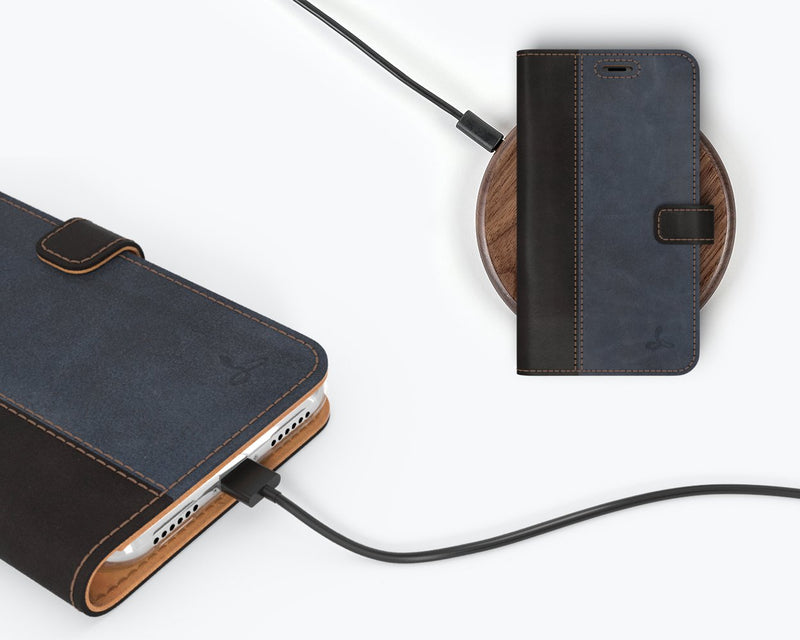 Vintage Two Tone Leather Wallet - Apple iPhone X/XS