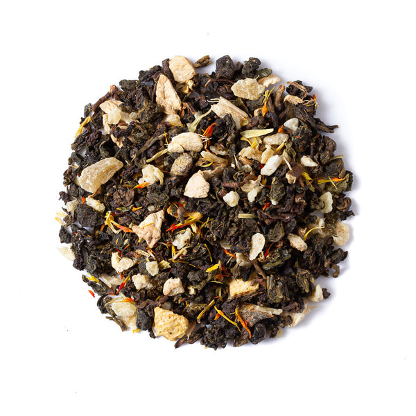 Organic Peach Ginger Oolong - Tea Mansion