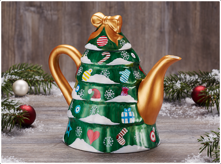 Christmas Tree Teapot Tea Mansion