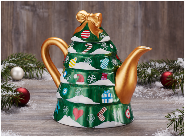 Christmas Tree Teapot - Tea Mansion