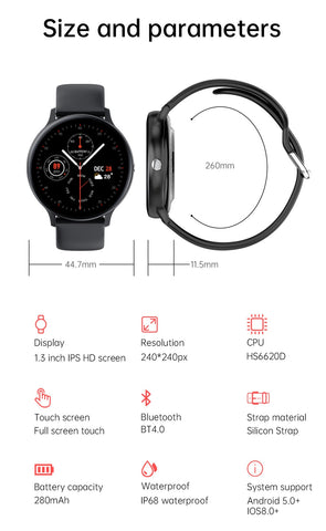 Image of Smart Watch Men Bluetooth Call Play Music Fitness Bracelet Smartwatch Women IP68 Full Touch Sport Digital Watch For Android IOS