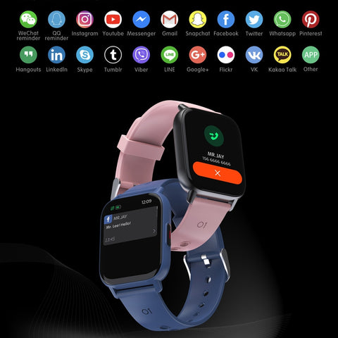 CHOTOG 1.69 Inch Smart Watch Men Body Temperature Full Touch Screen Smartwatch Women Accurate Oxygen Monitor Clock 2021 PK P8
