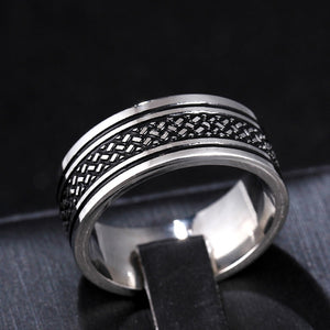 KMOCK  Mens 8 MM  Black Silver Pure Carbide Tungsten Ring