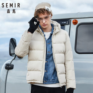SEMIR Winter Jacket Men New Couples Thick Coats 90% Duck Down Ultra-light Slim