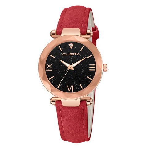 Analog Quartz Diamond Wrist Watch