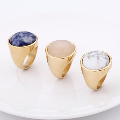 KALEN Crystal Rings Marble Color