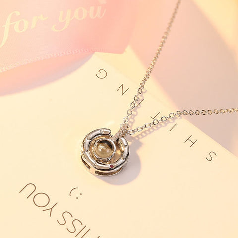 CARSINEL Fashion 100 languages I love you Projection Pendant